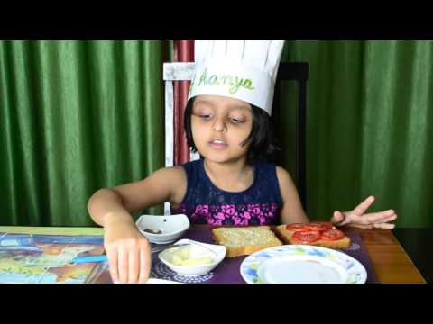 Lunchbox/ Snack recipe for kids: Tomato & Cheese Sandwich with Chef Aanya