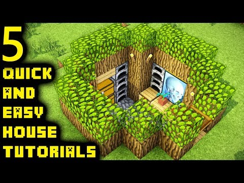 Minecraft: How to Build 5 Simple Easy Starter Houses