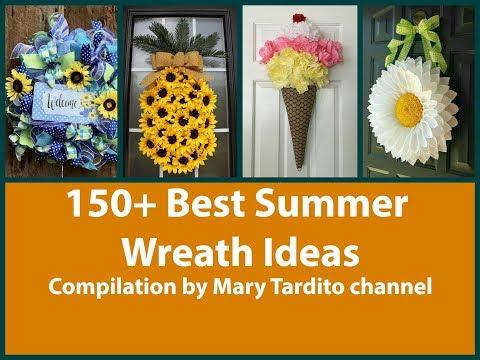 150+ Best DIY Wreath Ideas Compilation for Summer Season - Summer Decorating Ideas