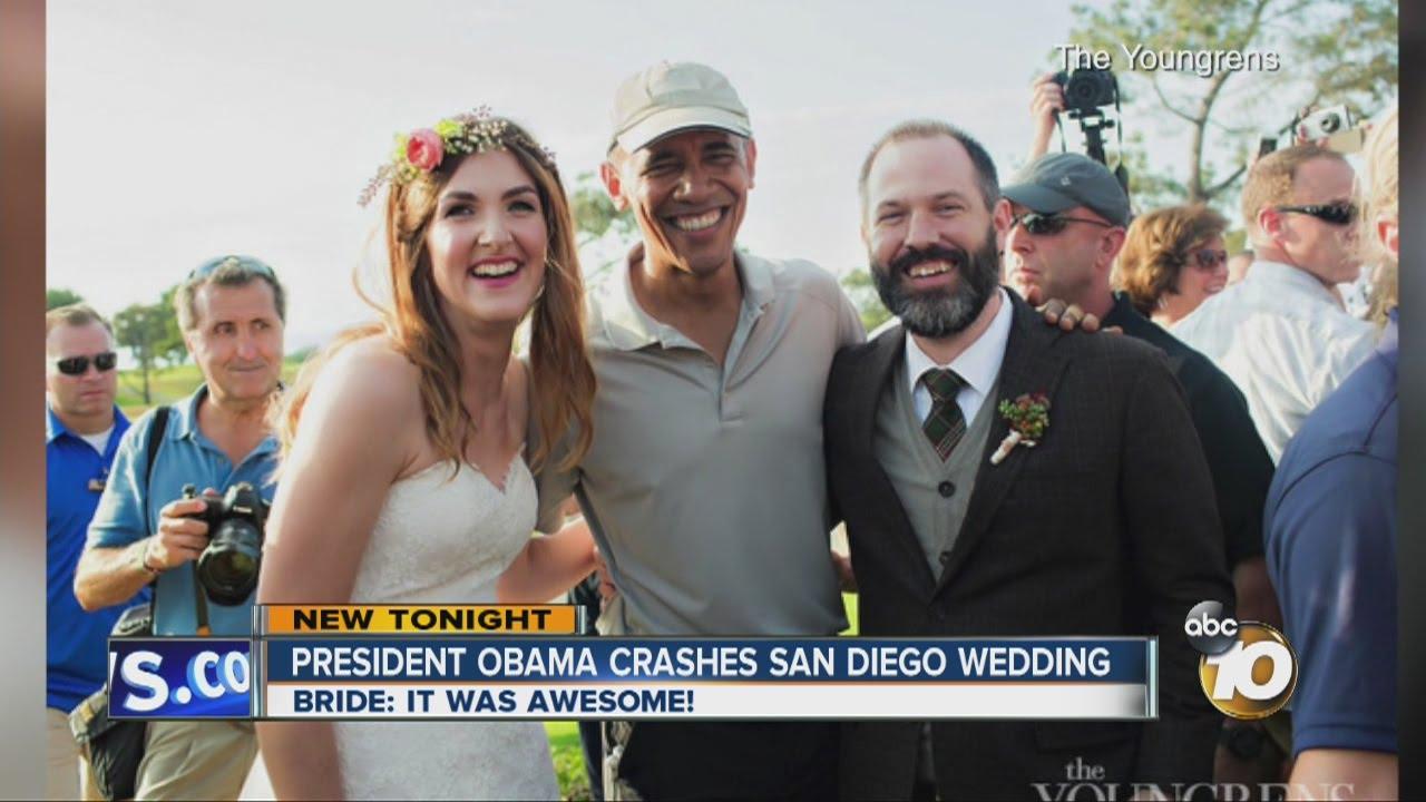 President Obama crashes San Diego wedding