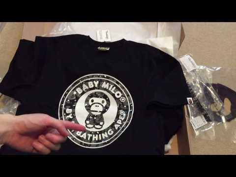 Bape Pickup/Unboxing Felix the Cat, Boa College tee, Milo Busy Works, Shark Cap