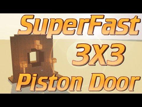 Minecraft: How to make a 3x3 Piston Door | Super fast 3x3 Redstone door IN WOOD | Minecraft Tutorial