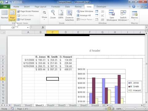Display or Hide the Rulers - Excel 2010