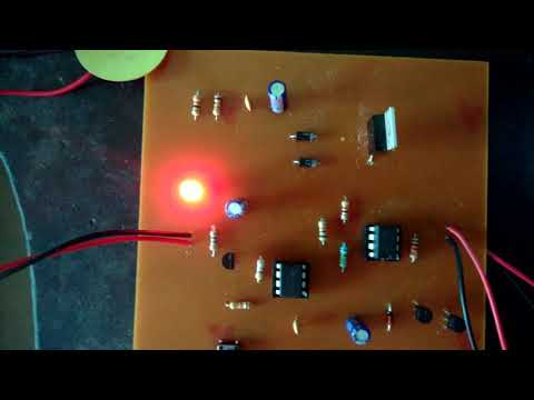 Smart vibration sensor using ne555 ic