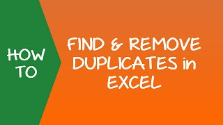 How To Find And Remove Duplicates In Excel