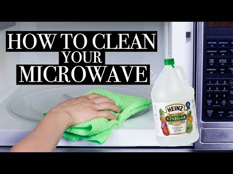 HOW TO CLEAN YOUR MICROWAVE WITH VINEGAR || BETHANY FONTAINE