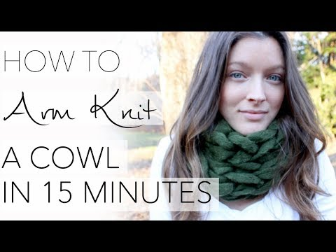 How to Arm Knit a Cowl in 15 Minutes - with Simply Maggie