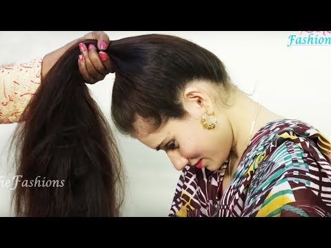 5 DIY Ponytail Hairstyle for long hair | DIY Easy Hairstyle for college/work/party