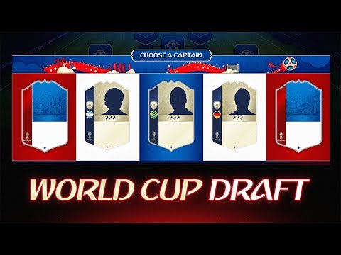 MY FIRST WORLD CUP DRAFT! - FIFA 18 Ultimate Team