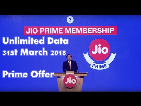 Jio Prime Offer Launched | Unlimited Data for 1 Year explained