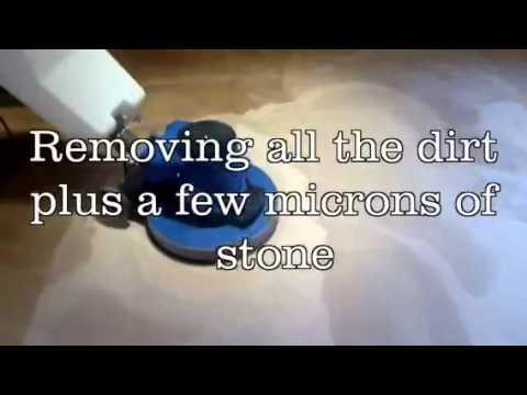 Limestone floor deep cleaning