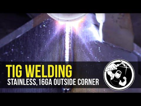 Tig Welding Stainless Steel 16ga Outside Corner