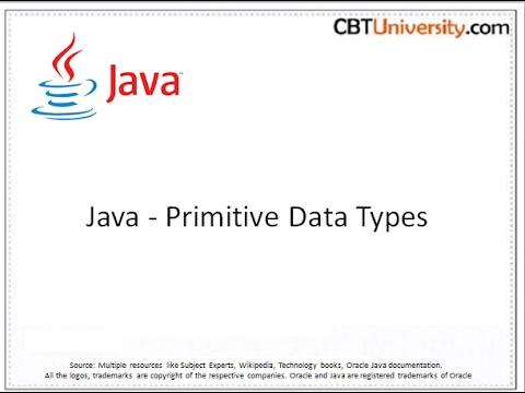 Java - Primitive data types