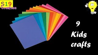 Download 9 Easy crafts for kids with paper | simple crafts for kids | diy crafts Video