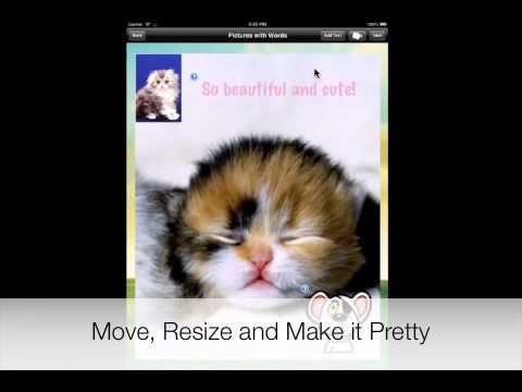 Pictures with Words iPhone iPad App from JustApps - How to add text to pictures and photos