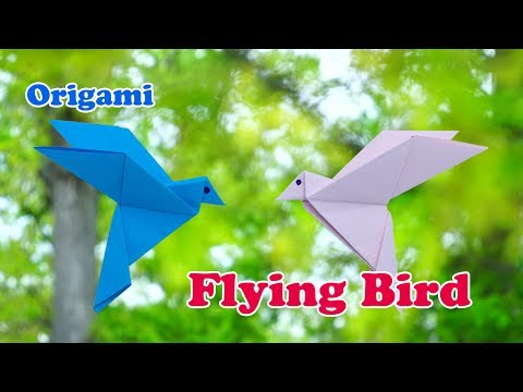 How to make an origami Flying Bird | How-to make an  oragami Bird with  easy origami |  作り方  art