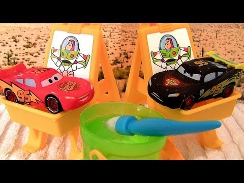Cars Color Changers Slide N Surprise Playground set