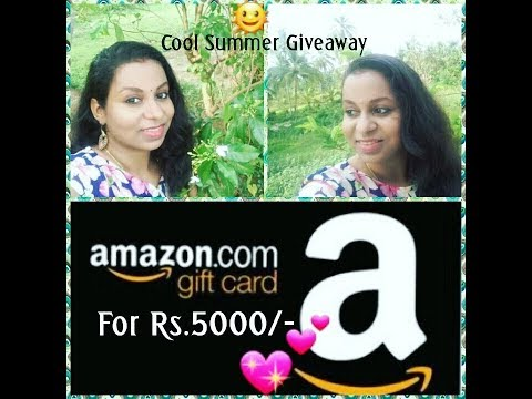 Cool Summer Giveaway $ Win 5k Amazon gift voucher$