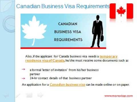 Canadian Business Visa Process