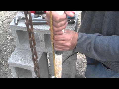 How to remove a deep well pump