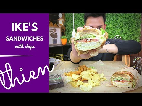 [mukbang with THIEN]: Ike's Love & Sandwiches (Handsome Owl - Vegan Chicken)