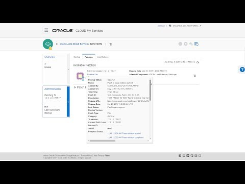 Patching an Oracle Java Cloud Service Instance