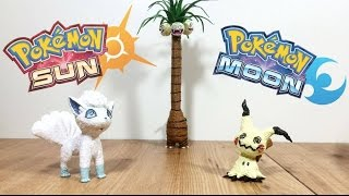 Making Pokémon figures with 3D Pen | Sun and Moon | Mimikyu, Exeggutor and Vulpix alola form