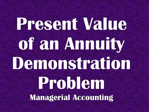 Present Value of an Annuity Demonstration Problem