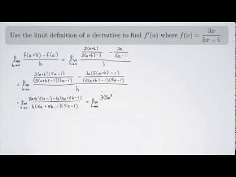 (Single-Variable Calculus 1) Using the Limit Definition of a Derivative 2