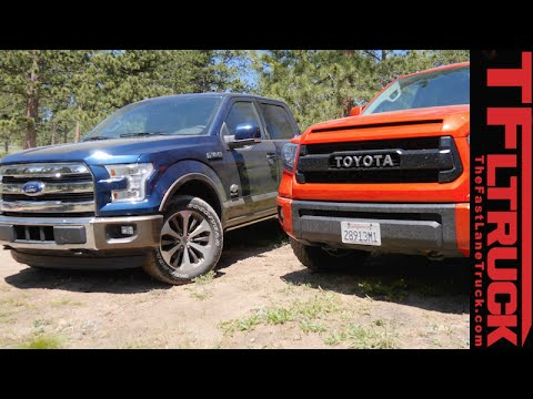 2015 Ford F-150 FX4 vs Toyota Tundra TRD Pro Off-Road Mashup Review