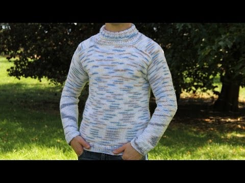 How to knit men's sweater - video tutorial with detailed instructions.