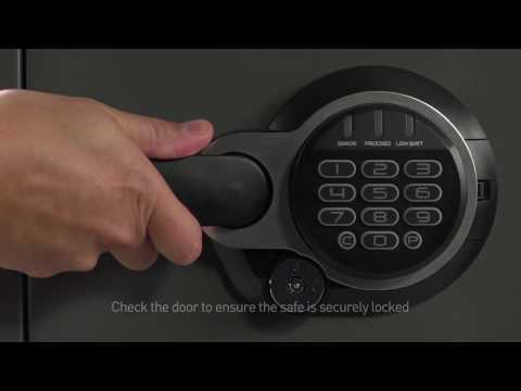 How to Open a Sentry®Safe Electonic Lock and Dual Key Fire Safe