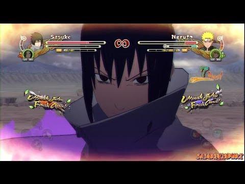 Naruto Shippuden Ultimate Ninja Storm 3 - EMS Sasuke (Edo Itachi) Vs KCM 2 Naruto (Minato) (HD)