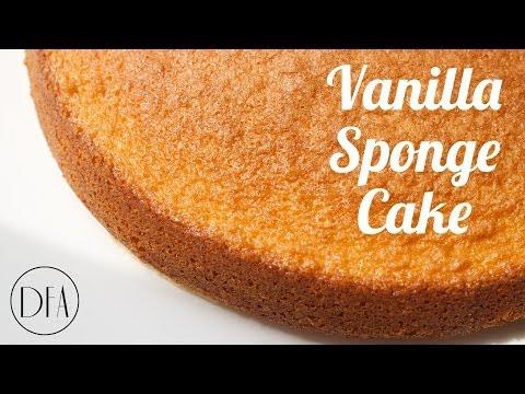 Vanilla Sponge Cake - Recipe [Delicious Food Adventures]