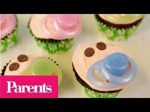 Baby Shower Ideas - Easy Pacifier Baby Cupcakes | Parents