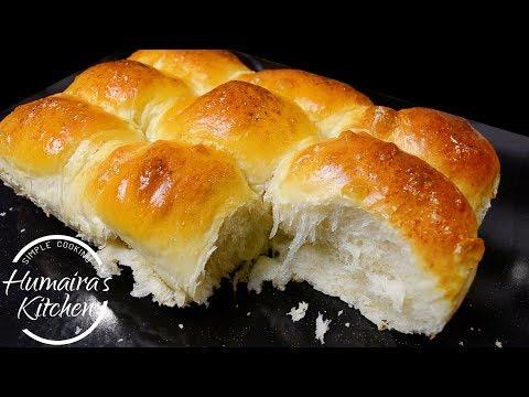 Dinner Rolls Milk Bread Buns Recipe - Ladi Pav Recipe -  Soft buns recipe easy  - Sheermal Recipe