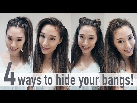 4 ways to hide your bangs  |   NEW Hairstyles 2017