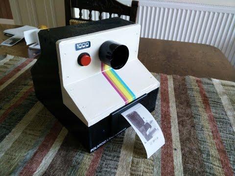 raspberry pi polaroid instant photo thermal printer