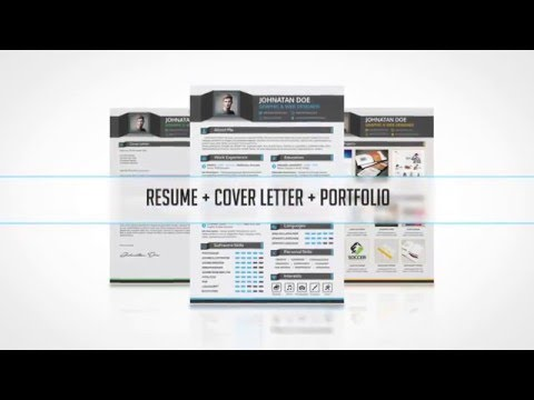 Professional Resume/CV + Cover Letter + Portfolio