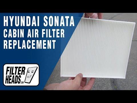 How to Replace Cabin Air Filter 2016 Hyundai Sonata