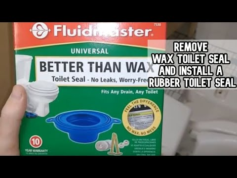 How to remove a wax toilet seal and install a rubber toilet seal DIY video