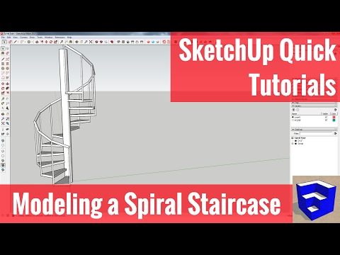 Modeling a Spiral Staircase in SketchUp - Quick Tutorial