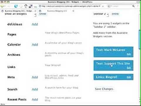 WordPress Tutorial - Use a Text Widget to Customize Sidebar