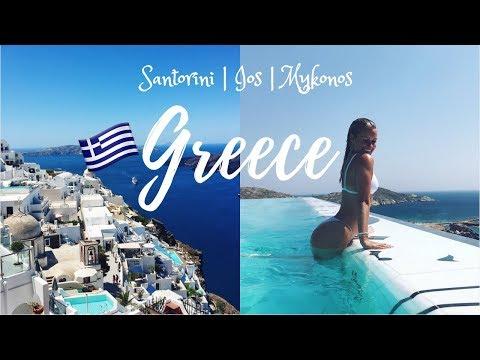 A MONTH IN GREECE || Santorini, Ios & Mykonos
