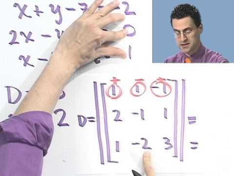 Using Cramer's Rule in a 3 x 3 Matrix