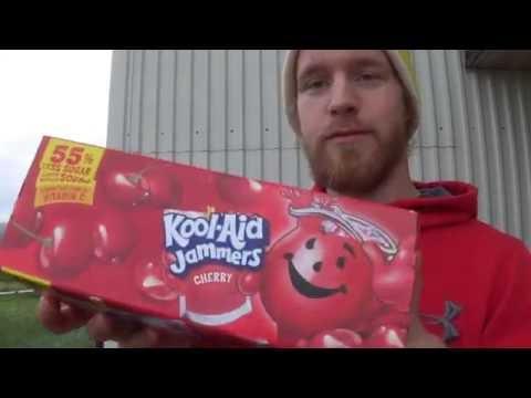 Kristofer Tasting Kool Aid Jammers Cherry ARTIFIALLY FLAVORED DRINK