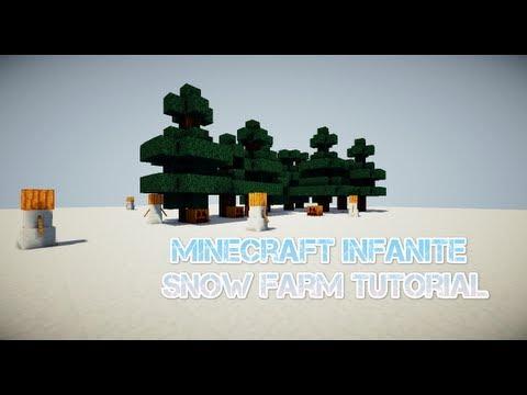 Minecraft | 1.7.3 | Infinite Snow Farm Tutorial Works 100%