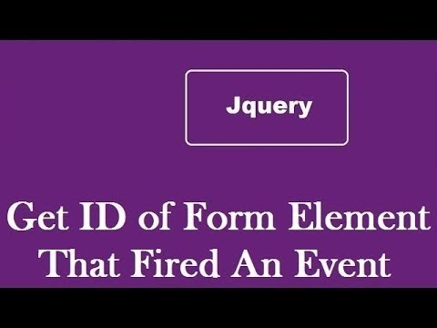 Get the ID of the element that fired an event