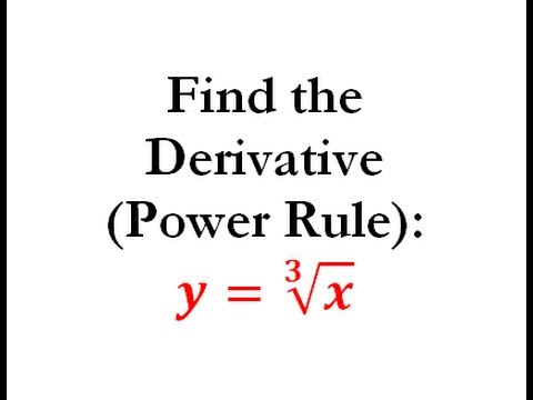Power Rule of Derivatives (Calculus) - Worked Example #2