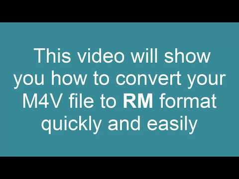How to Convert M4V to RM (Real Media)